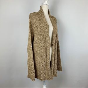 NWT Coldwater Creek Cardigan 2X Beige Shimmer Long